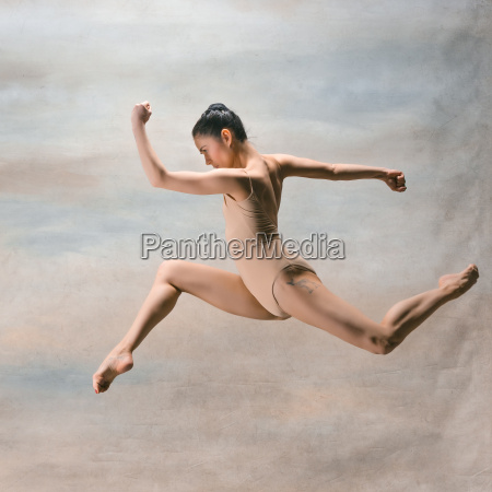 young, beautiful, modern, style, dancer, jumping - 22659775