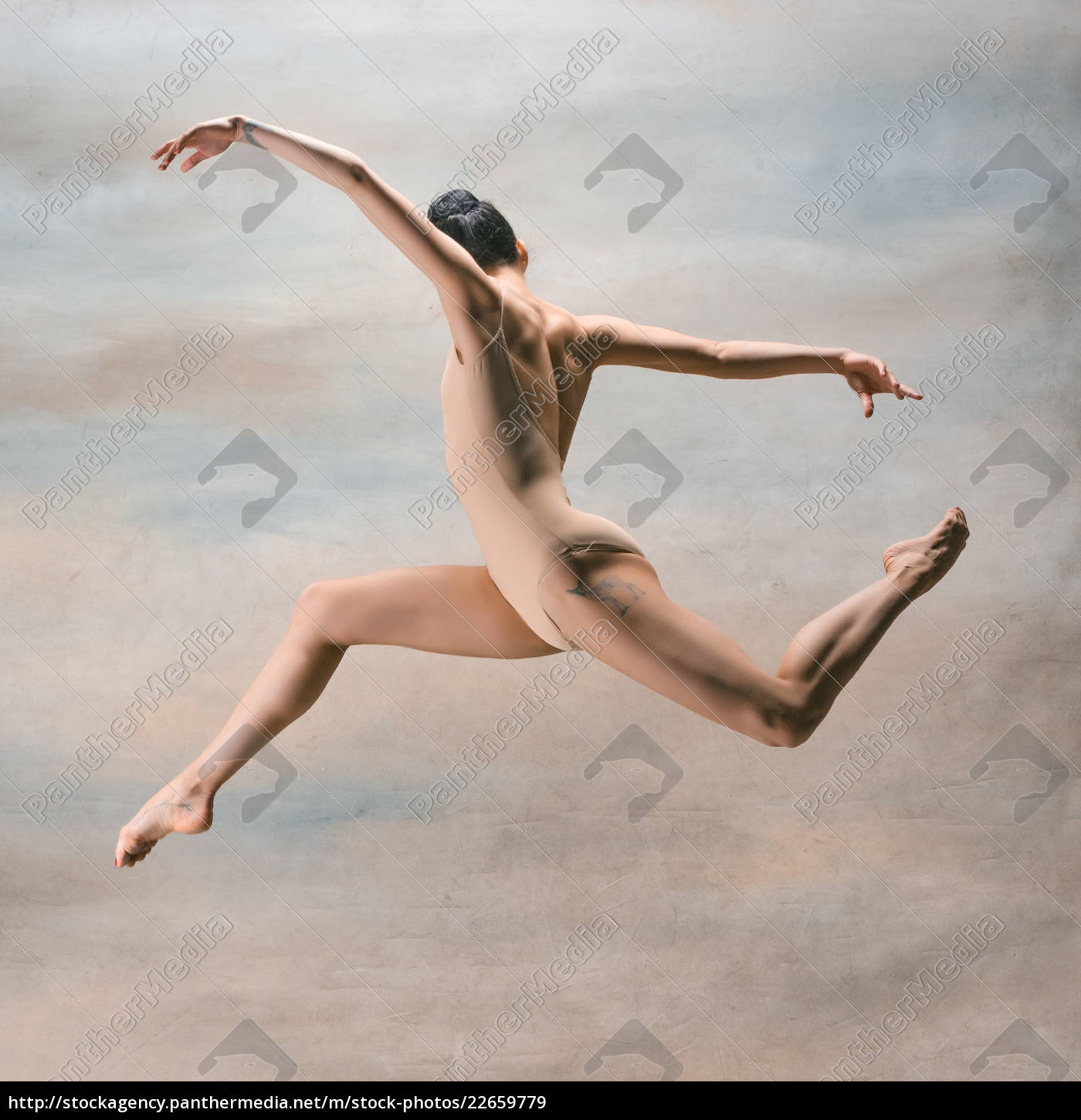 young, beautiful, modern, style, dancer, jumping - 22659779