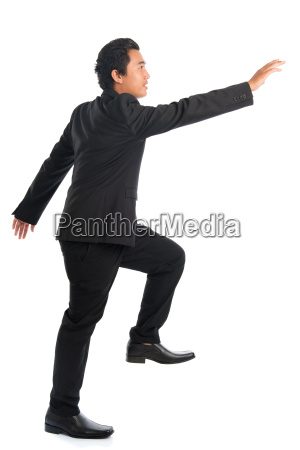 full, body, asian, businessman, hand, grabbing - 22665335