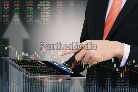 business man trading concept using the