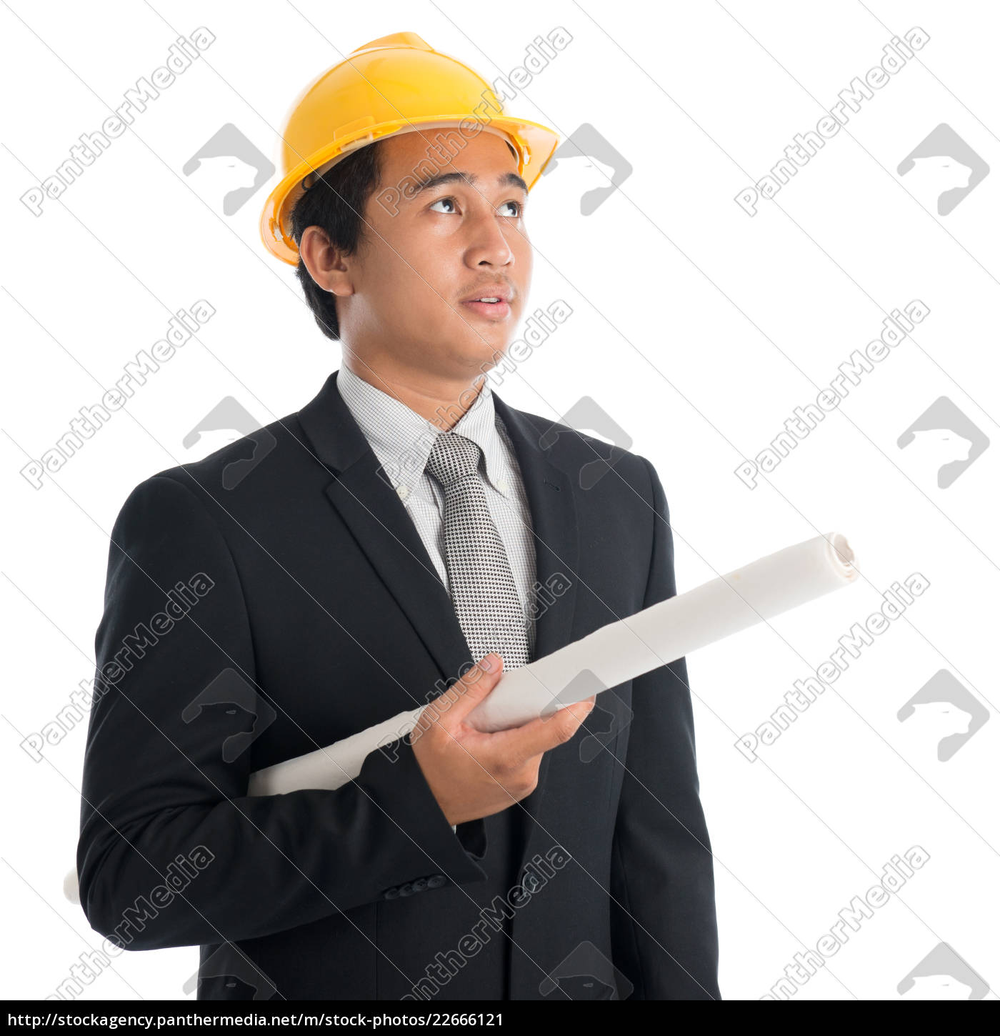 asian, man, with, safety, helmet, and - 22666121