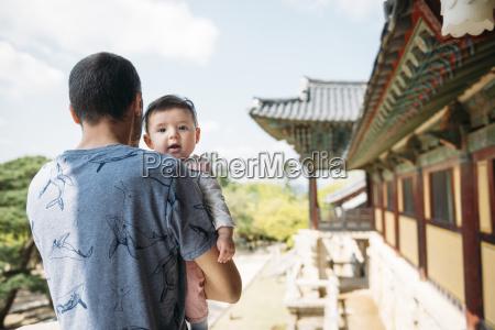south korea gyeongju man traveling with