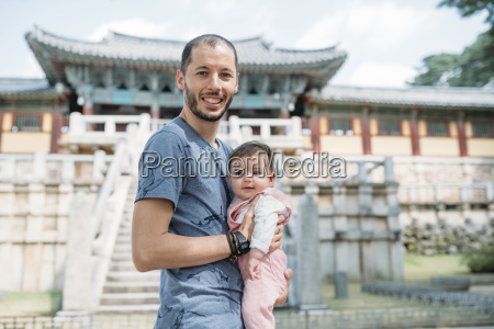 south korea gyeongju father traveling with