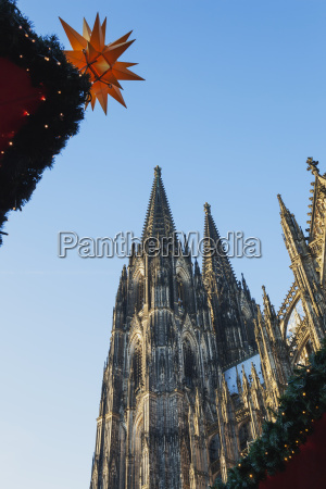 germany cologne view to cologne cathedral