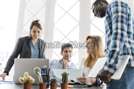 young team working having a meeting