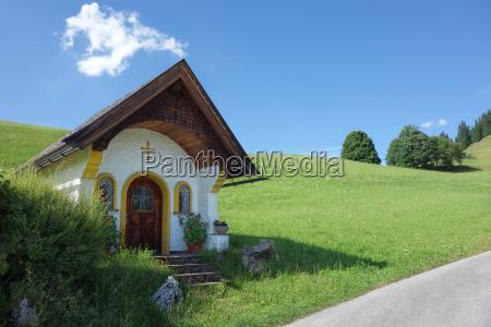 mountain chapel in tyrol