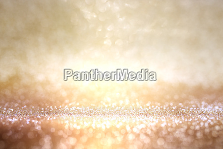 abstract gold and silver bokeh background