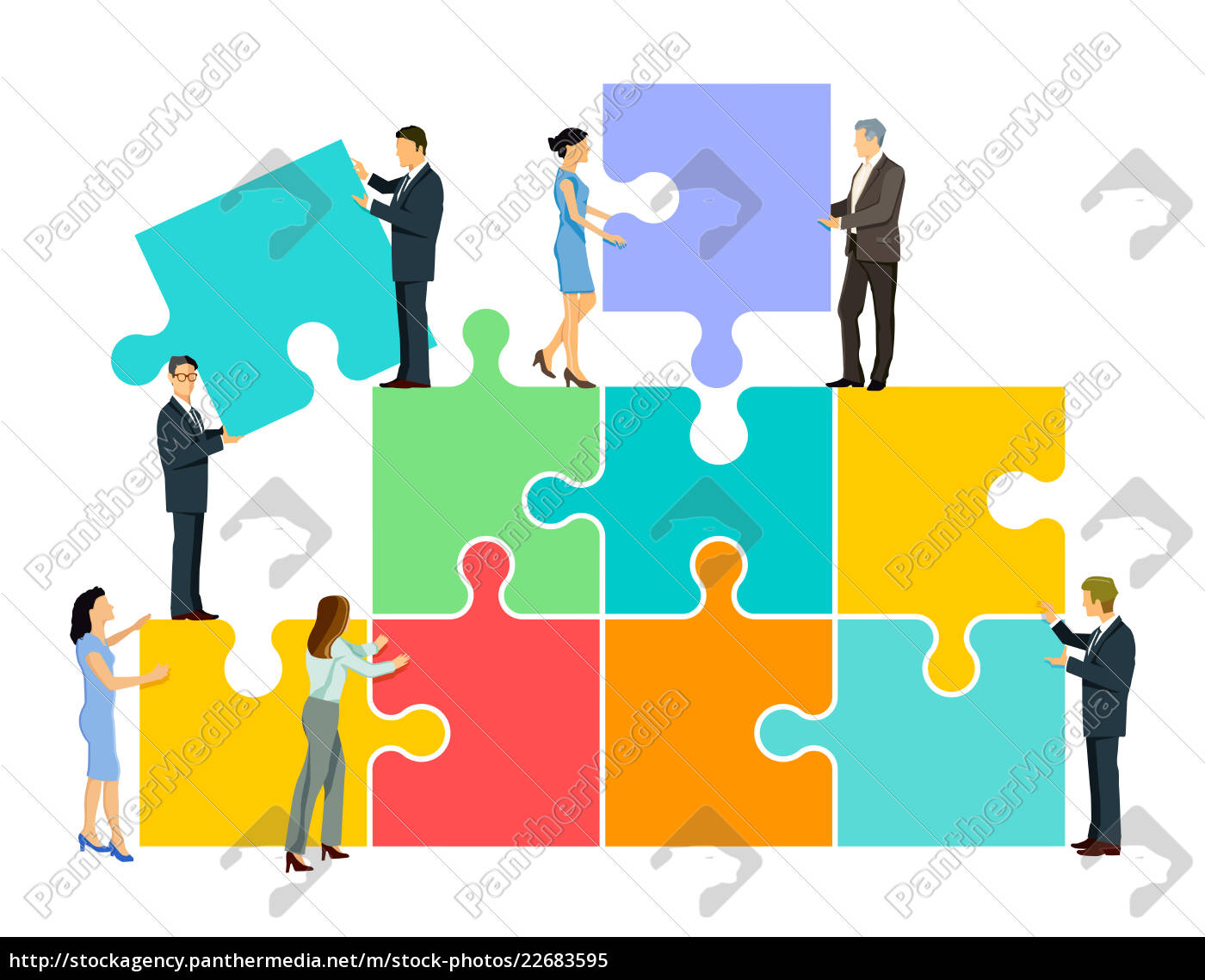 team, puzzle, in, the, group, illustration - 22683595