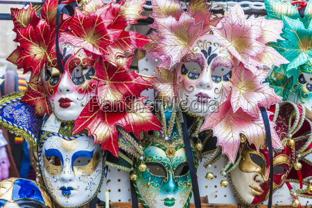 colourful masks of the carnival of