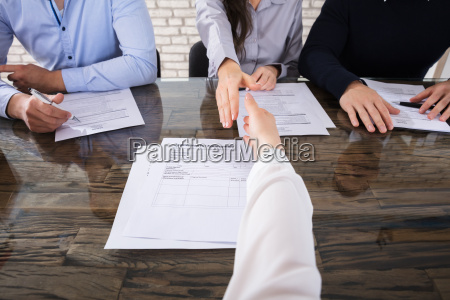 shaking hand with corporate recruitment officers