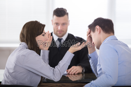 couple arguing with each other in