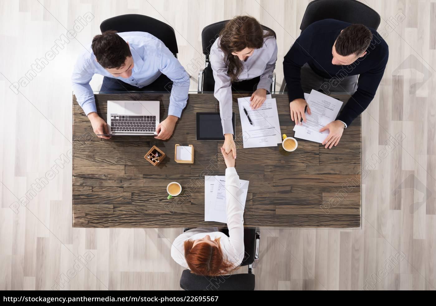 business, people, handshake, in, office - 22695567