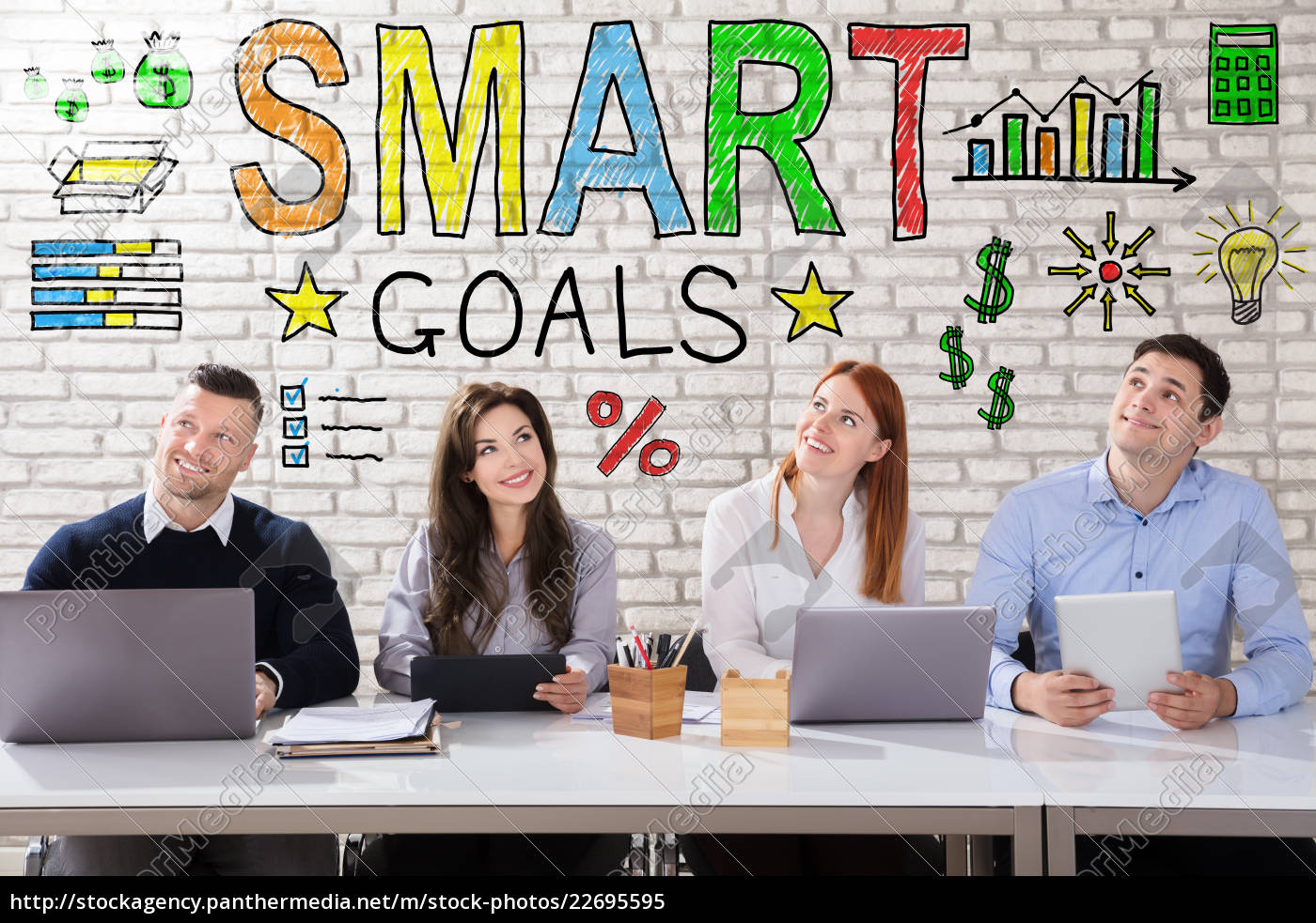 business, people, thinking, about, smart, goal - 22695595