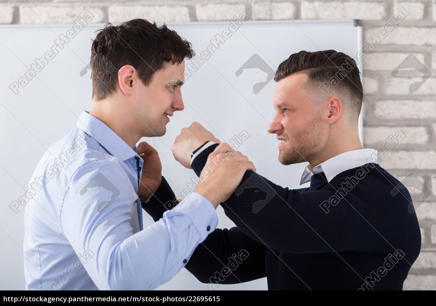 close-up, of, businessman, fighting - 22695615