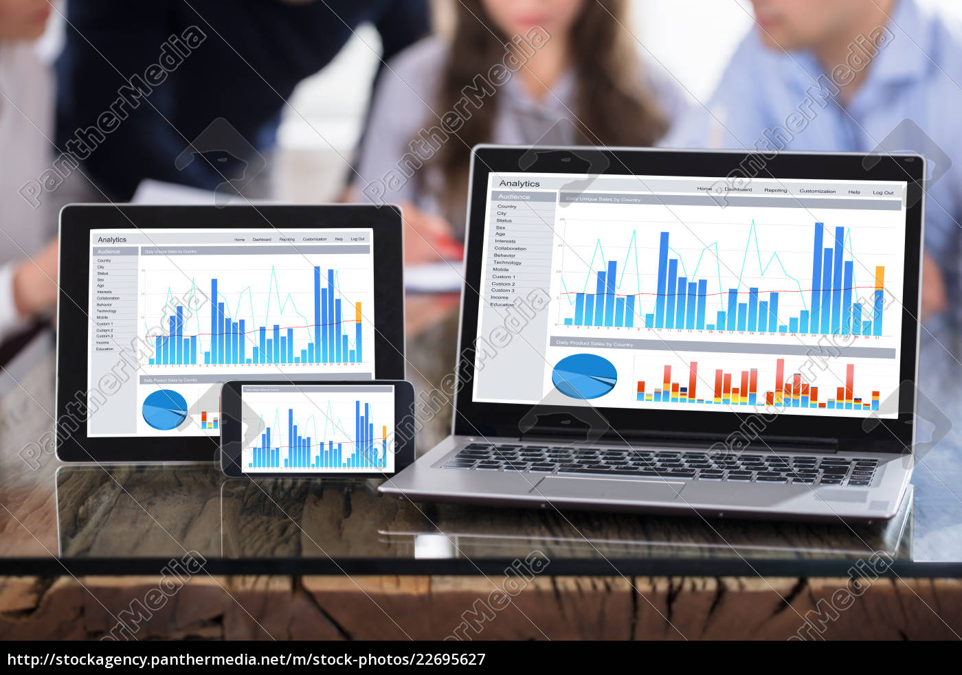 graph, display, on, modern, electronic, devices - 22695627