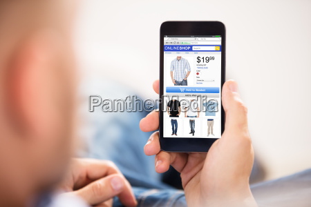 man, doing, online, shopping - 22695665
