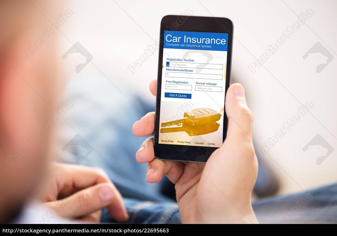 man, filling, car, insurance, form, on - 22695663