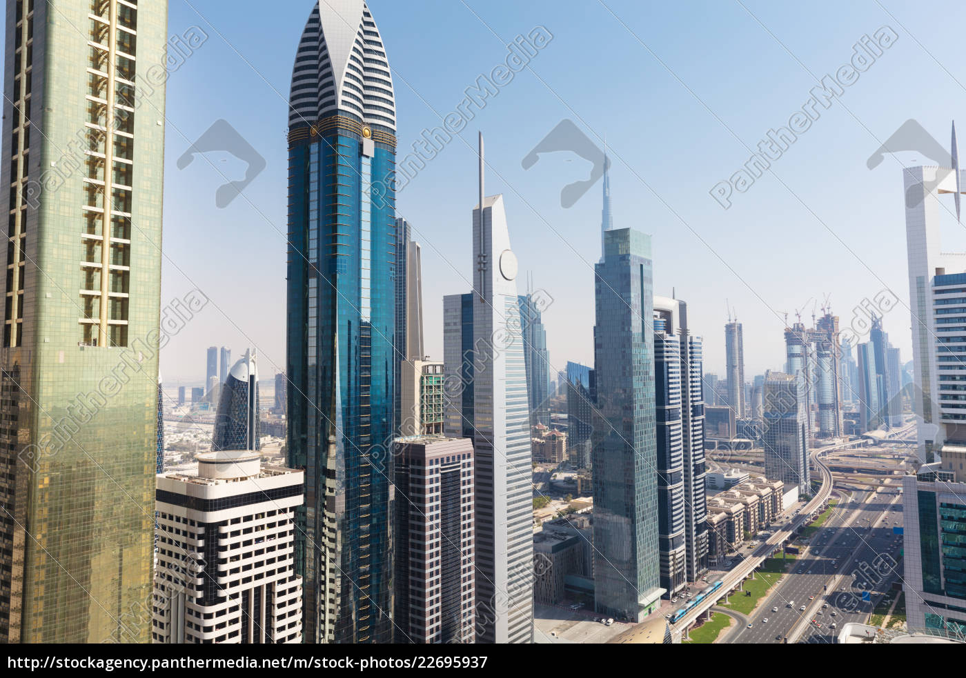 view, of, sheikh, zayed, road - 22695937