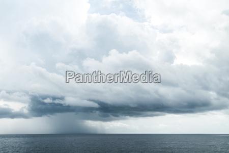 dark clouds in open ocean
