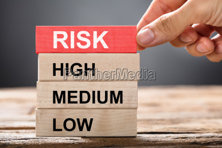 hand, building, risk, concept, with, wooden - 22696683