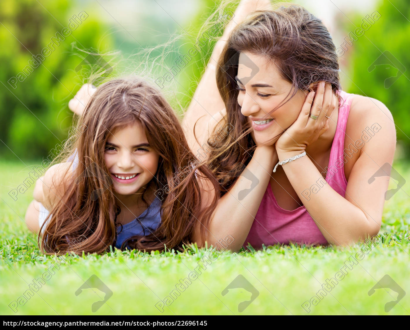 happy, mother, with, daughter - 22696145