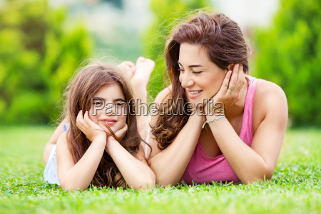 mother, with, daughter, outdoors - 22696143