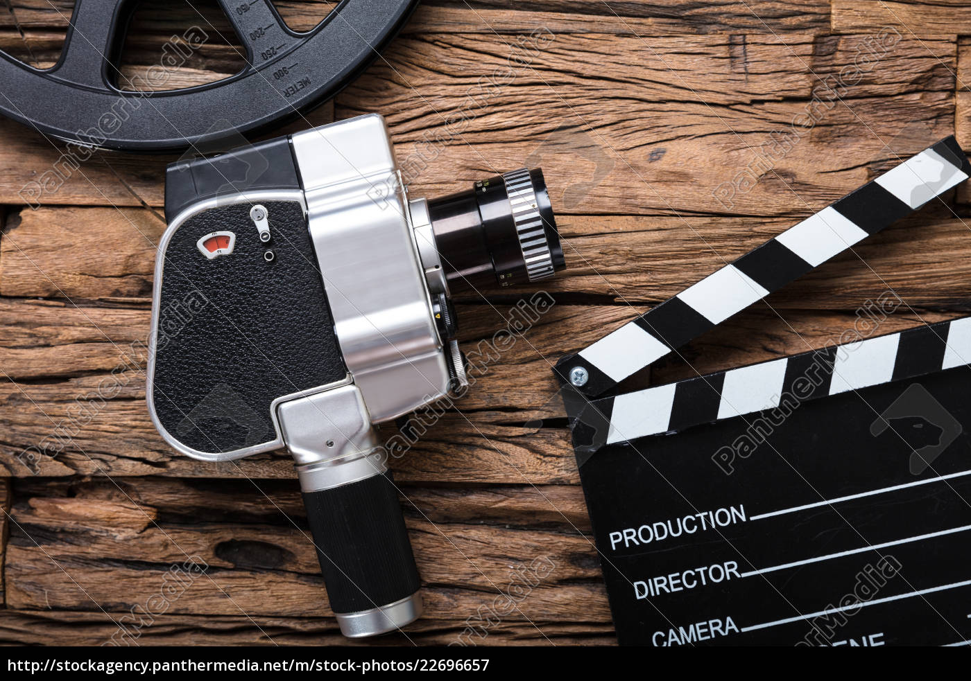 movie, camera, with, film, reel, and - 22696657