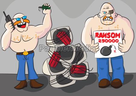 funny computer ransomware cartoon