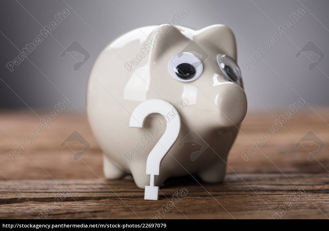 question, mark, sign, and, piggy, bank - 22697079