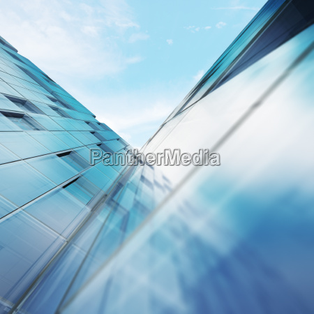 transparent abstract building