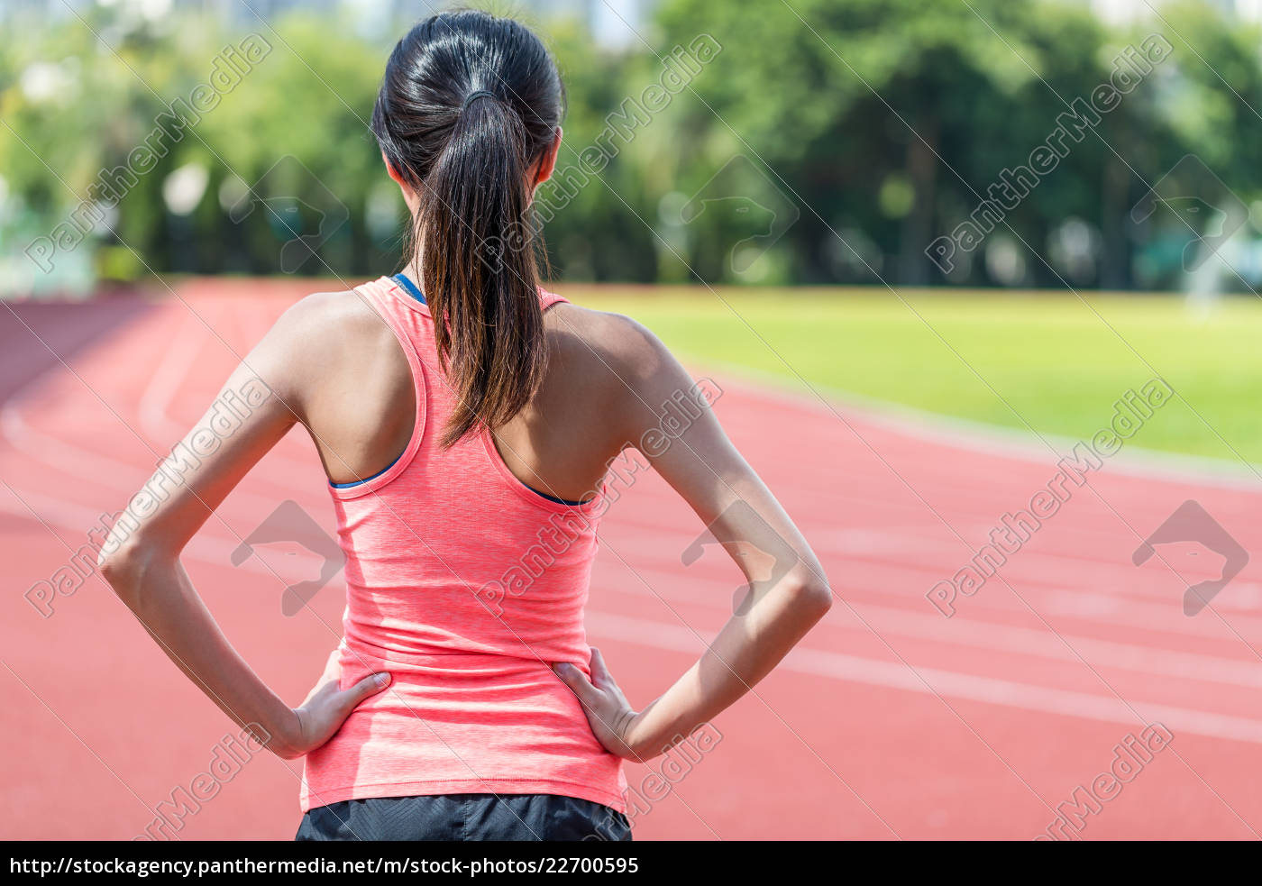 back, view, of, sport, woman, in - 22700595