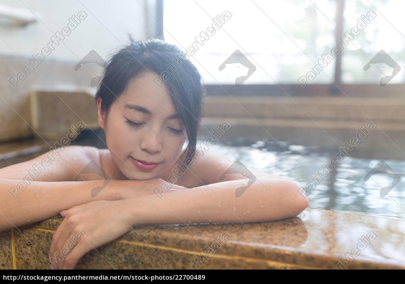 woman, enjoy, bathing, indoor - 22700489