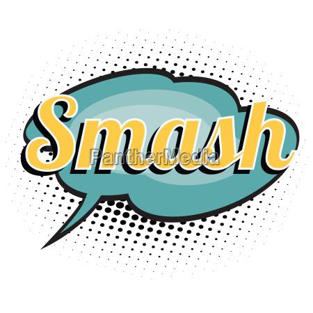 smash comic word