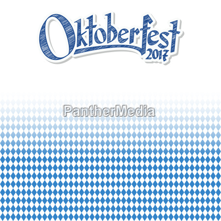 oktoberfest, background, with, blue-white, checkered, pattern - 22702115
