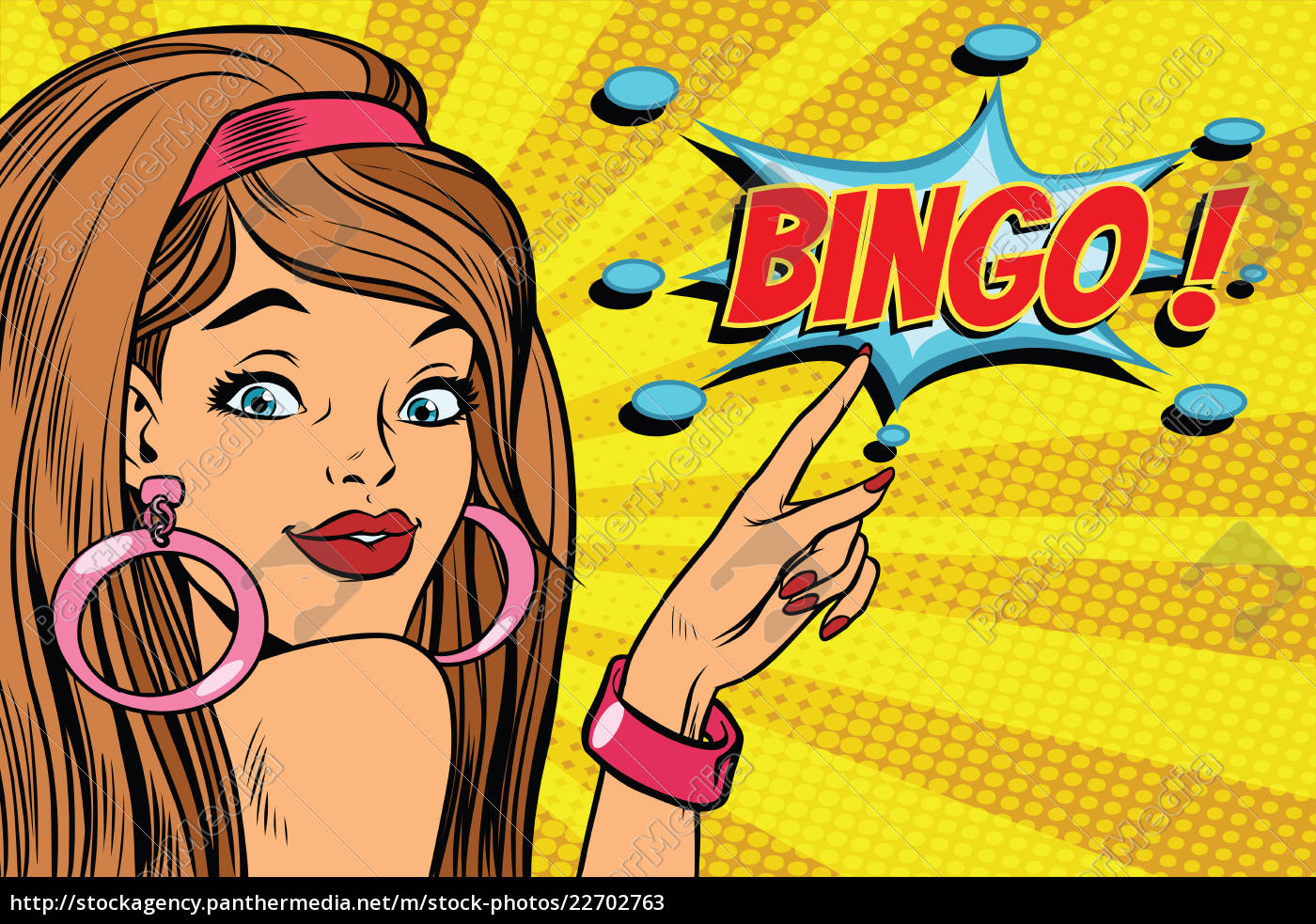 pop, art, woman, bingo - 22702763