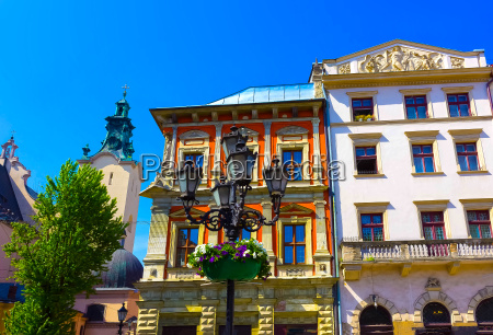 the old part of lviv with
