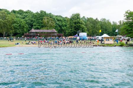 lake werbellinsee germany june 25