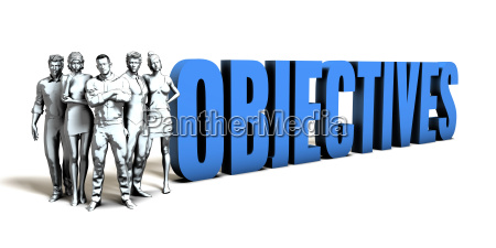 objectives business concept