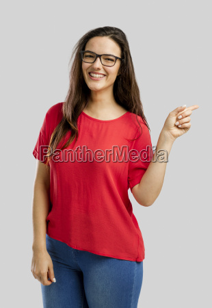 happy, woman, pointing, to, the, camera - 22707081