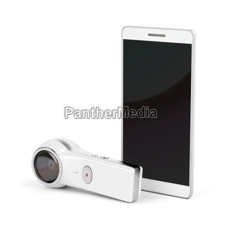 360 degree camera and smartphone