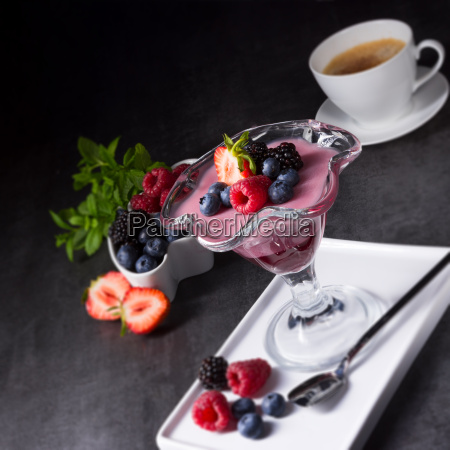 delicious, pudding, with, wild, berry - 22710295