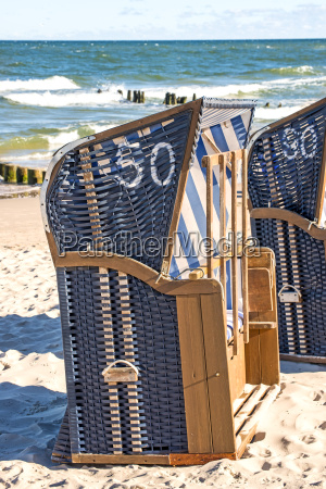 beach chairs on the beach of