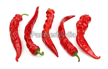 red hot chili peppers close up