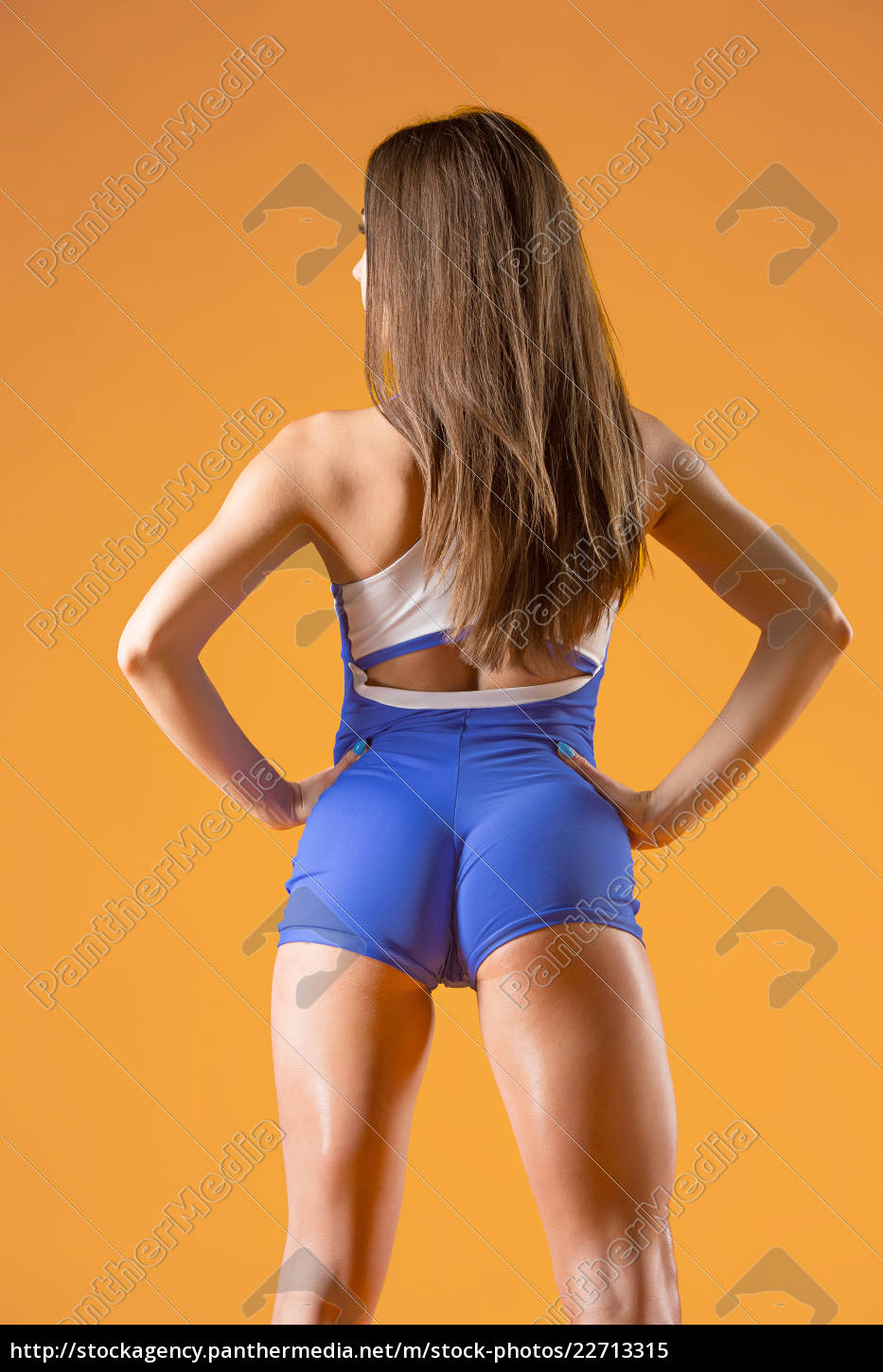 muscular, young, woman, athlete, posing, at - 22713315