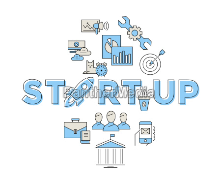 digital vector blue red startup team