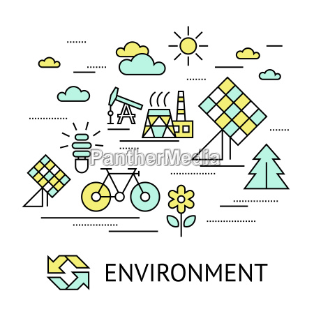 digital vector yellow green ecology environment