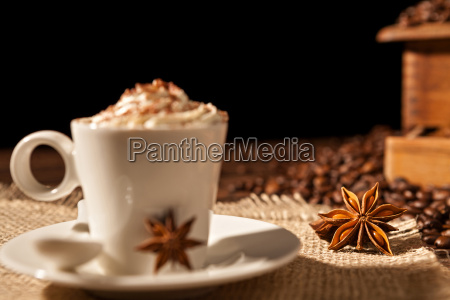 close-up, of, coffee, cup, with, whipped - 22719771