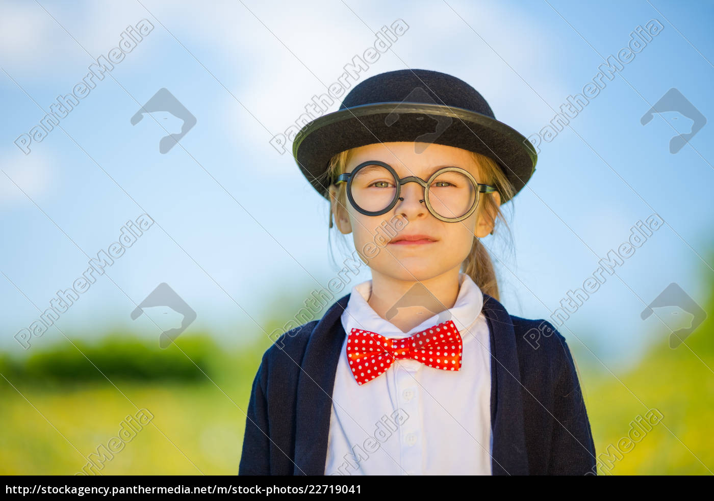 funny, little, girl, in, bow, tie - 22719041