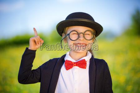 funny, little, girl, in, glasses, , bow - 22719049