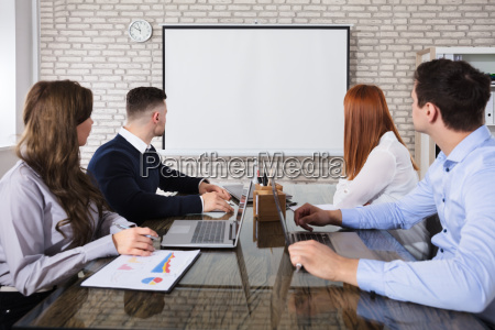 business, people, looking, at, white, board - 22721189